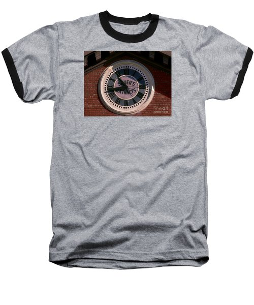 Baseball T-Shirt featuring the photograph Sauer Company Clock by Melissa Messick