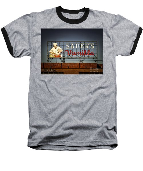 Baseball T-Shirt featuring the photograph C.f.sauers Signage by Melissa Messick
