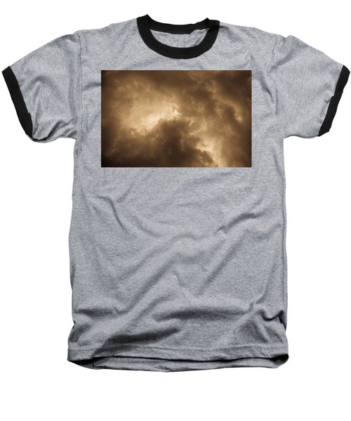 Sepia Clouds Baseball T-Shirt