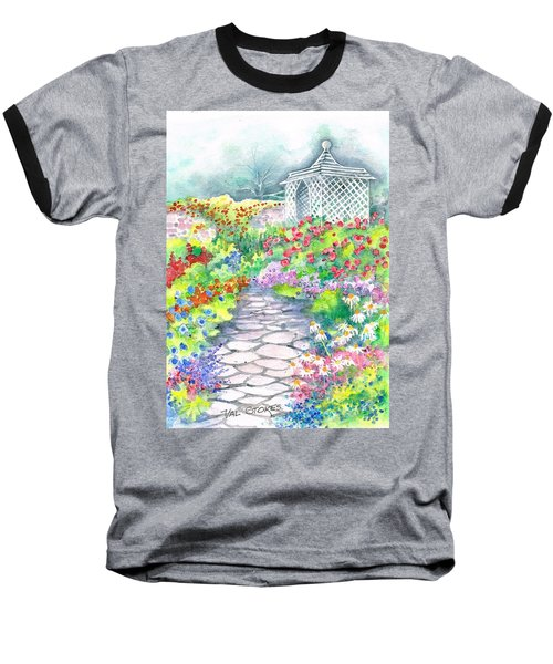 Baseball T-Shirt featuring the painting Serenity by Val Stokes