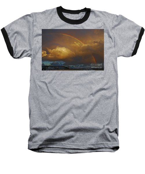 Baseball T-Shirt featuring the photograph 2- Singer Island Stormbow by Rainbows