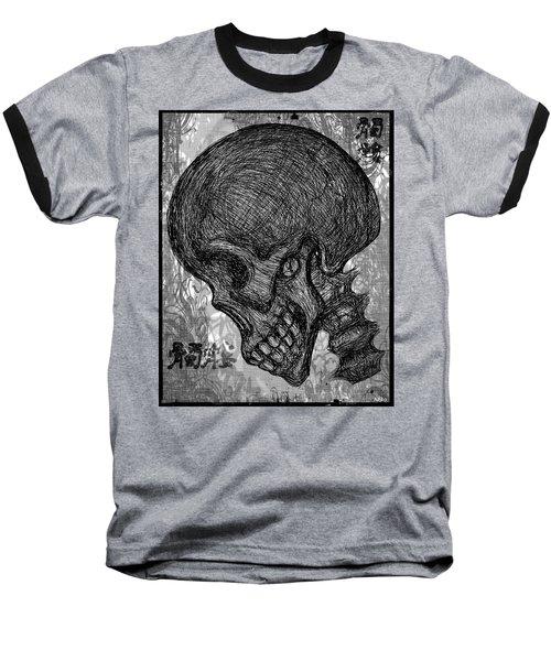 Gothic Skull Baseball T-Shirt by Akiko Okabe