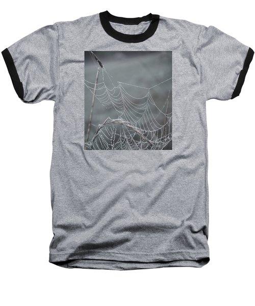 Spiderweb Droplets Baseball T-Shirt by Nikki McInnes
