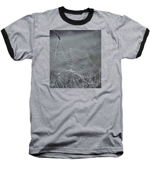 Spiderweb Droplets Baseball T-Shirt