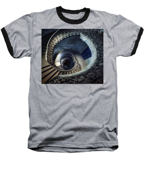Baseball T-Shirt featuring the photograph Spiral Staircase With Ornamented Handrail by Jaroslaw Blaminsky