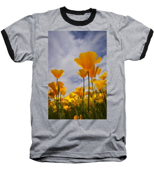 Springtime Poppies  Baseball T-Shirt