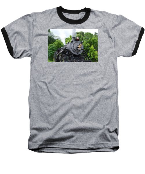 Steam Engline Number 630 Baseball T-Shirt by Linda Geiger