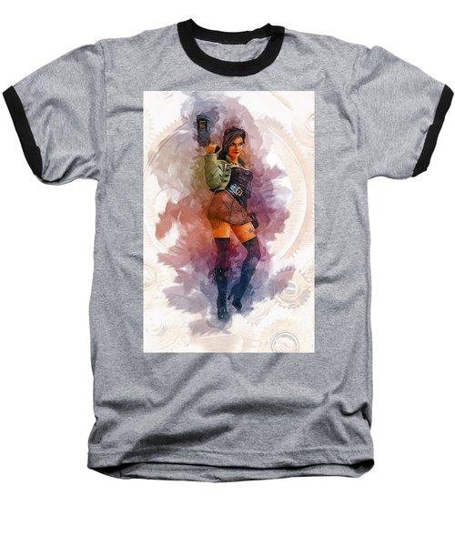 Steampunk Girl Baseball T-Shirt