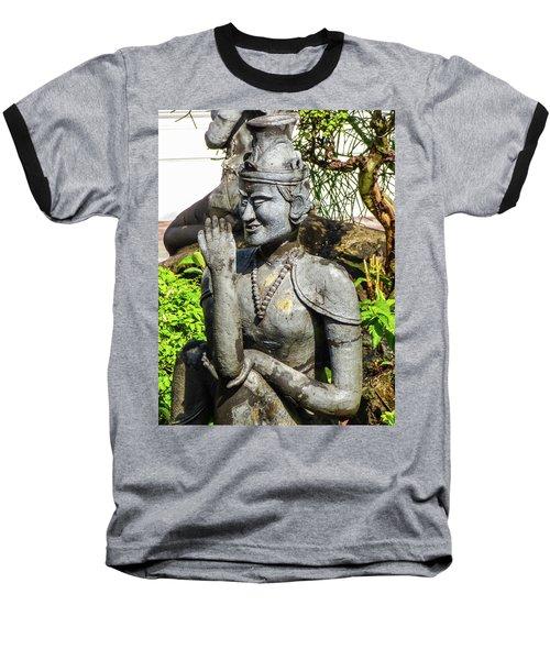 Stone Statue Depicting A Thai Yoga Pose At Wat Pho Temple Baseball T-Shirt