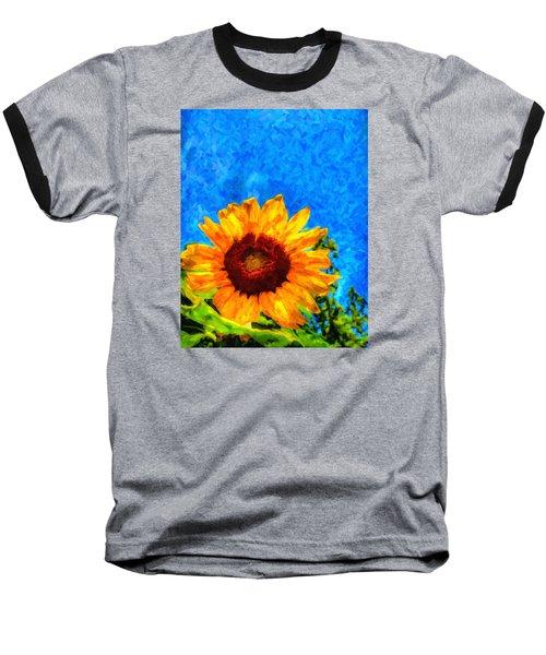 Sunflower  Baseball T-Shirt by Andre Faubert