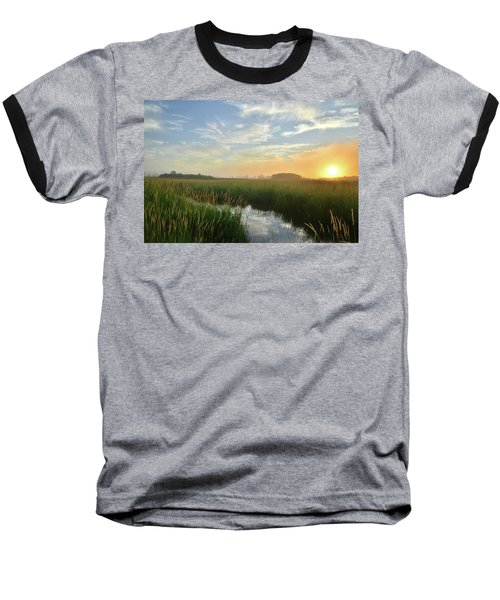 Sunrise At Glacial Park Baseball T-Shirt