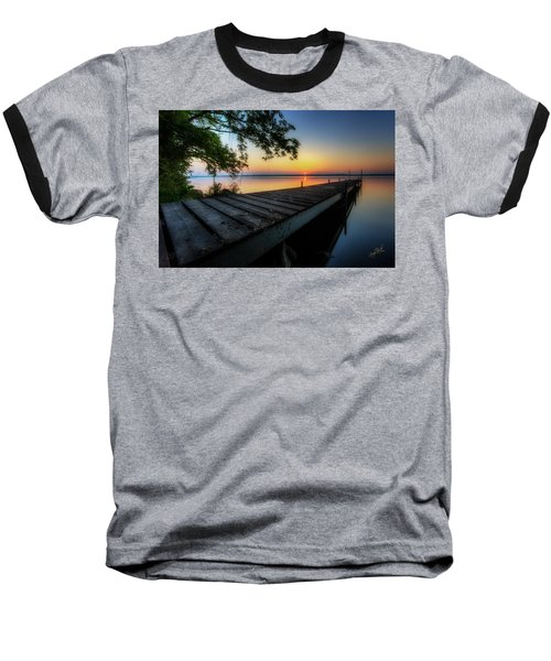 Sunrise Over Cayuga Lake Baseball T-Shirt