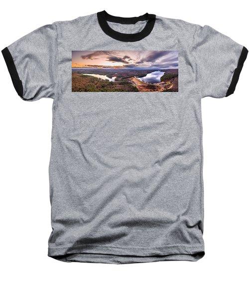 Sunset At Saville Dam - Barkhamsted Reservoir Connecticut Baseball T-Shirt