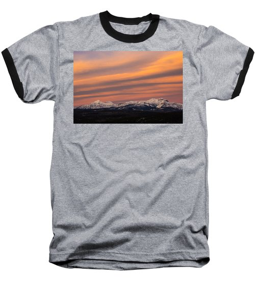 Sunset In Glacier National Park Baseball T-Shirt