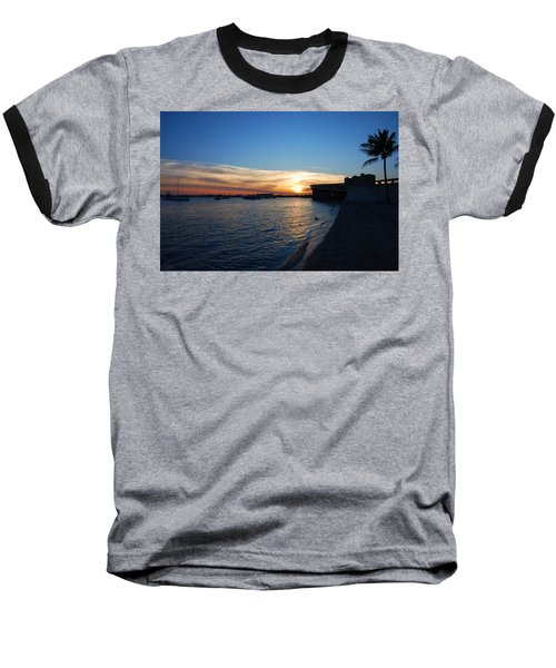 Baseball T-Shirt featuring the photograph 2- Sunset In Paradise by Joseph Keane