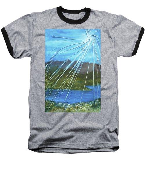 Sunshine Over Boise Baseball T-Shirt by Angela Stout