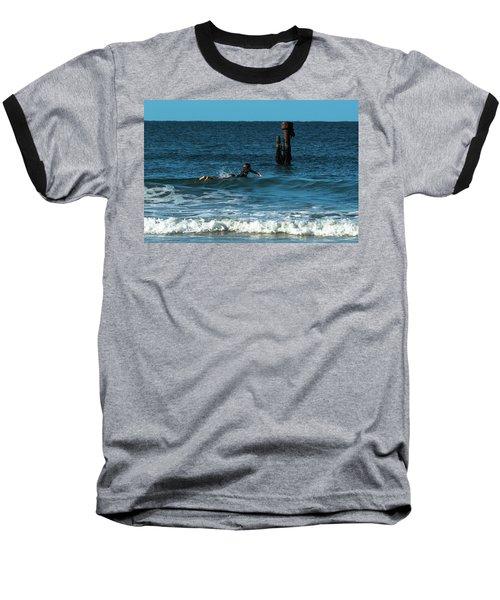 Surfing At  Baseball T-Shirt