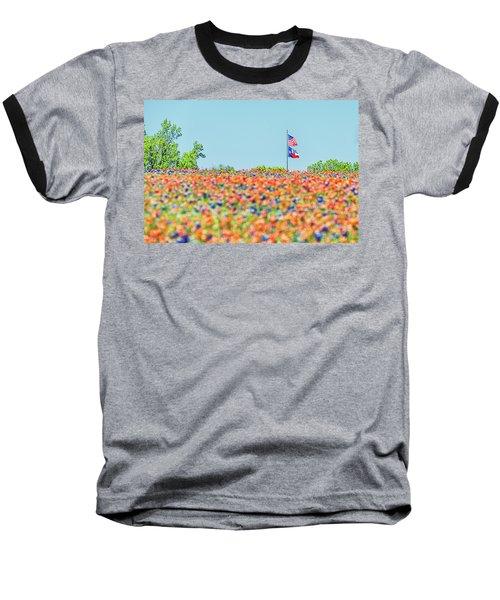 God Bless America And God Bless Texas Baseball T-Shirt