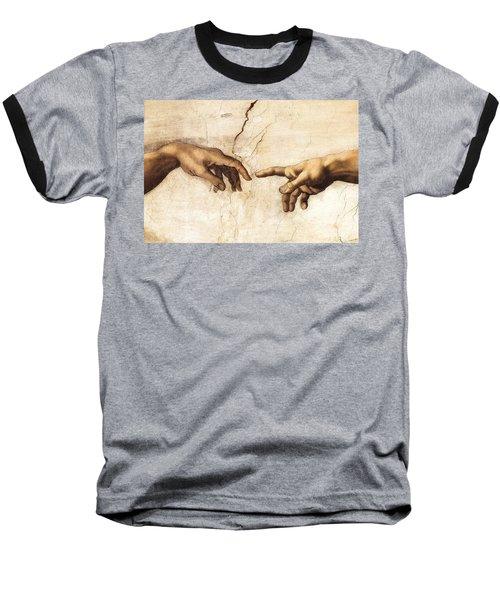 The Creation Of Adam Baseball T-Shirt