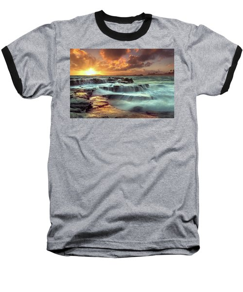 The Golden Hour Baseball T-Shirt by James Roemmling