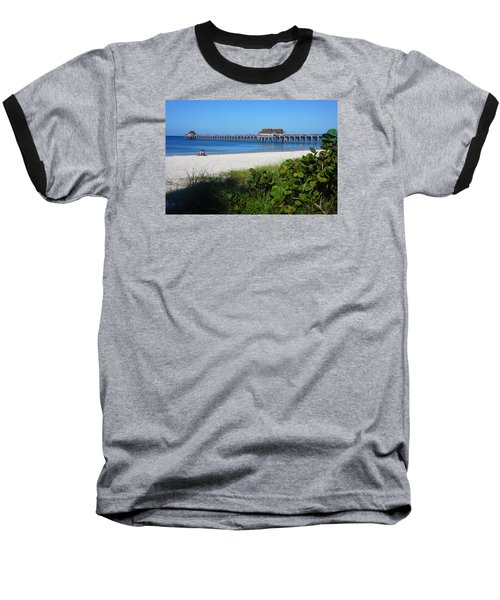 Baseball T-Shirt featuring the photograph The Historic Naples Pier by Robb Stan