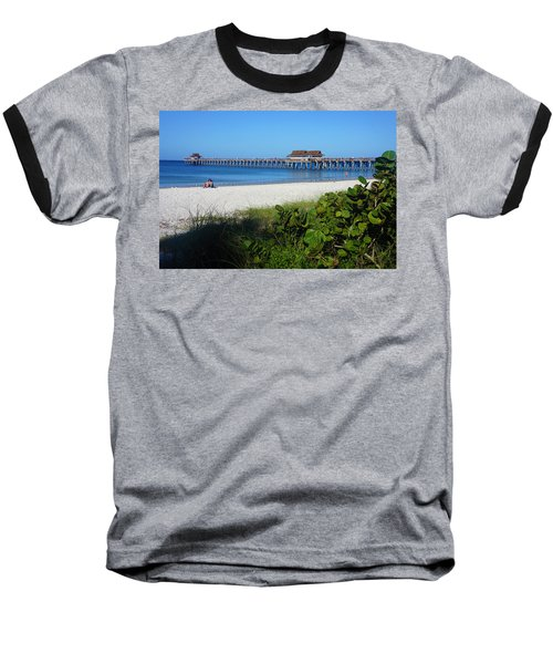 The Historic Naples Pier Baseball T-Shirt