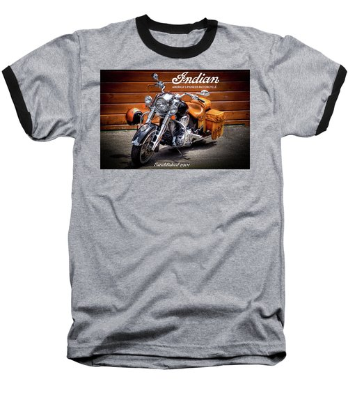 The Indian Motorcycle Baseball T-Shirt by David Patterson