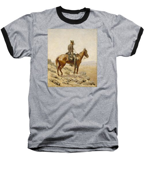 The Lookout Baseball T-Shirt by Frederic Remington