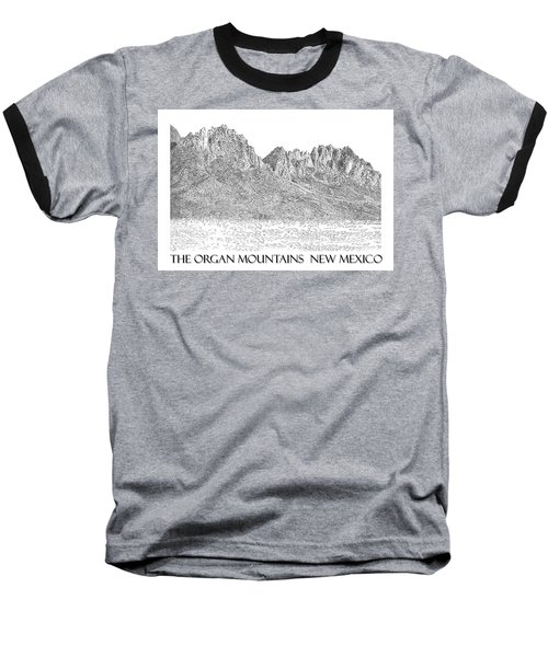 Baseball T-Shirt featuring the painting The Organ Mountains by Jack Pumphrey