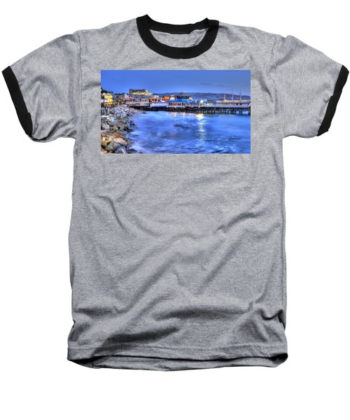Redondo Landing At Night Baseball T-Shirt by Richard J Cassato