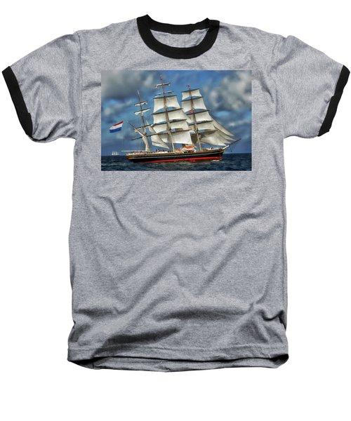 Three Mast Schooner Baseball T-Shirt
