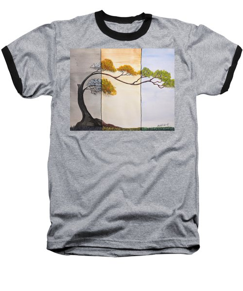Baseball T-Shirt featuring the painting Time After Time by Edwin Alverio