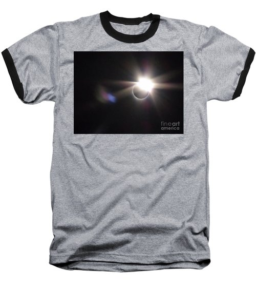 Total Eclipse 2017 Lens Flare Baseball T-Shirt