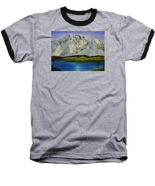 Tranquility Baseball T-Shirt by Bev Conover