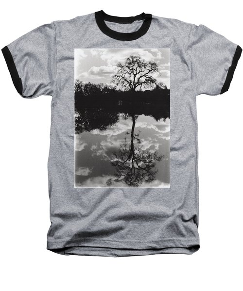 Tree Reflection Sebastopol Ca, Baseball T-Shirt