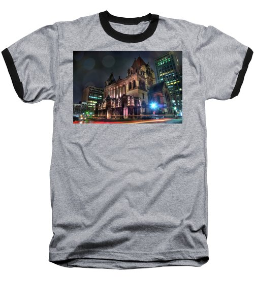 Baseball T-Shirt featuring the photograph Trinity Church - Copley Square Boston by Joann Vitali