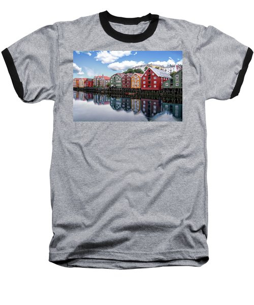 Trondheim Coastal View Baseball T-Shirt