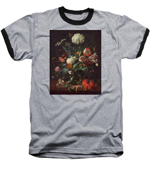 Vase Of Flowers Baseball T-Shirt by Jan Davidsz de Heem