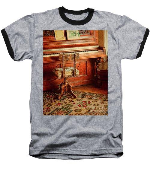 Baseball T-Shirt featuring the photograph Vintage Piano by Jill Battaglia