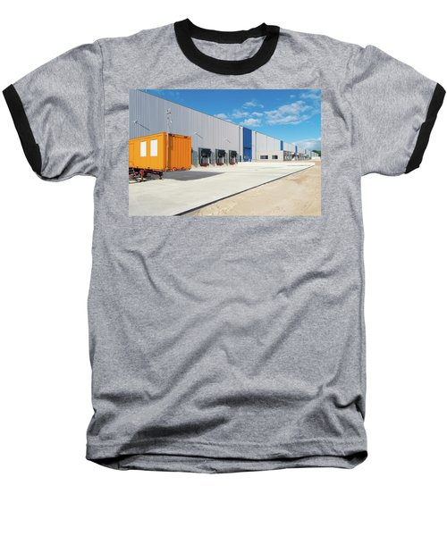 Baseball T-Shirt featuring the photograph Warehouse Exterior by Hans Engbers