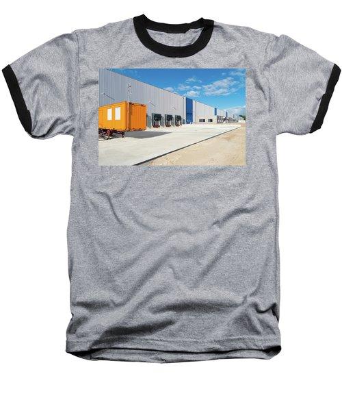 Warehouse Exterior Baseball T-Shirt by Hans Engbers