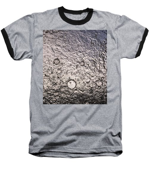 Water Abstraction - Liquid Metal Baseball T-Shirt