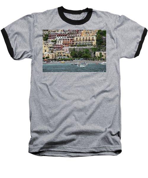 Water Taxi From Amalfi To Positano Baseball T-Shirt