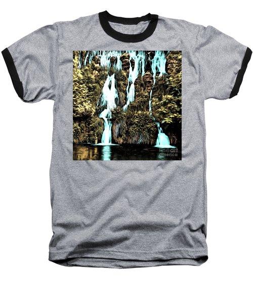 Waterfall Painting Baseball T-Shirt