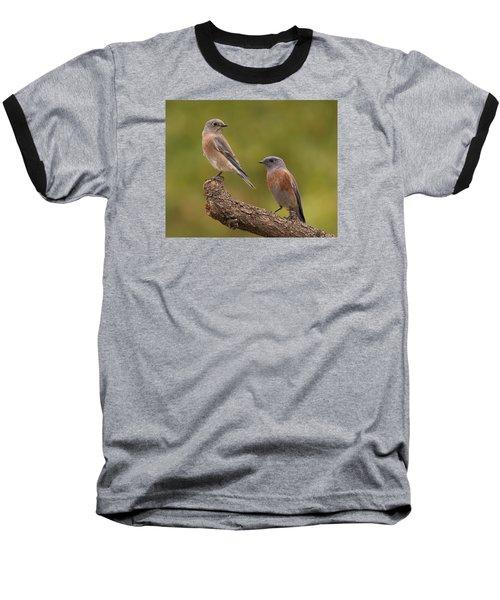 Baseball T-Shirt featuring the photograph Western Bluebird by Doug Herr