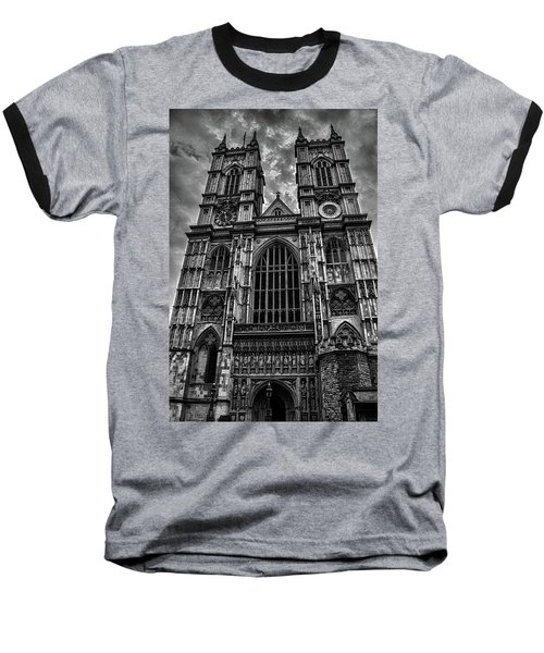 Westminster Abbey Baseball T-Shirt by Martin Newman