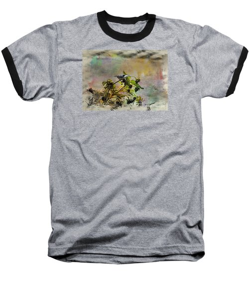 White Breasted Nuthatch Baseball T-Shirt by Yumi Johnson