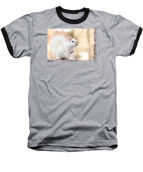 White Squirrel Baseball T-Shirt by Vizual Studio