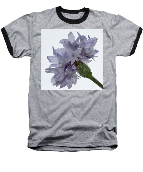 White With Blue Cornflower Baseball T-Shirt