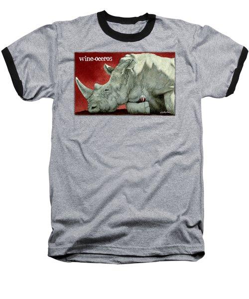 Wine-oceros Baseball T-Shirt